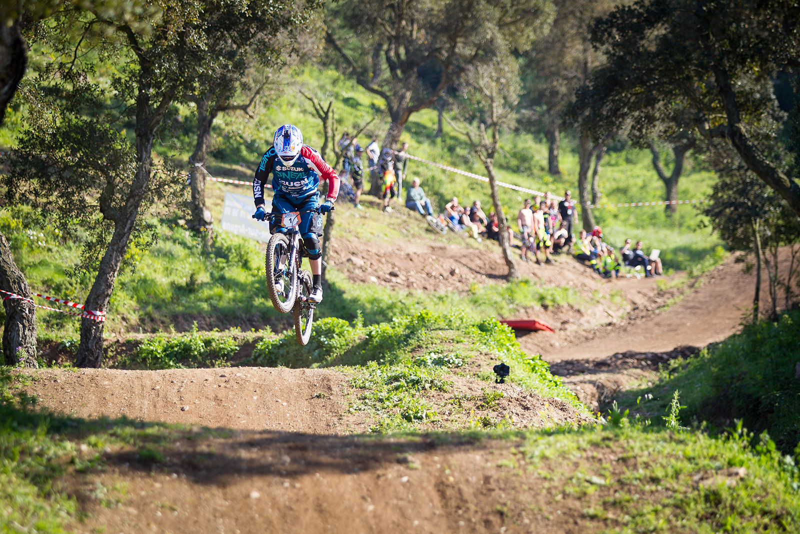 Open practice and Qualification during round 1 of the 4X Pro Tour at Azur Bike Park, Rocqbrune, , France on April 08 2017. Photo: Charles A Robertson