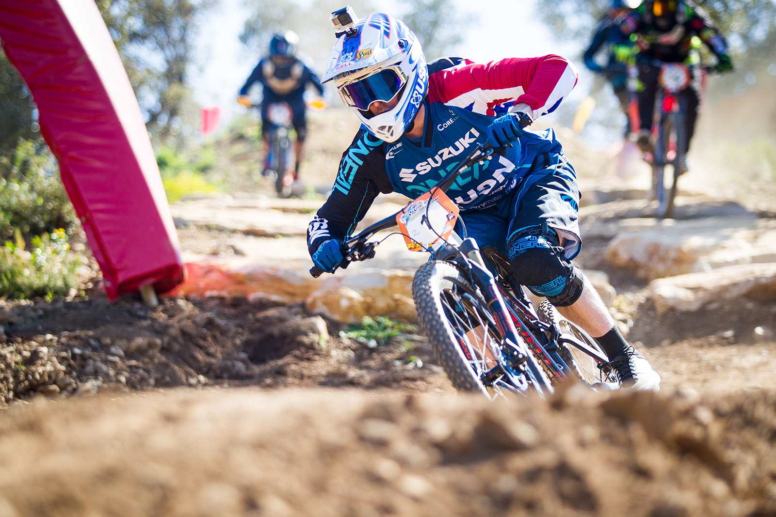 Open practice and finals action during round 1 of the 4X Pro Tour at Azur Bike Park, Rocqbrune, , France on April 09 2017. Photo: Charles A Robertson